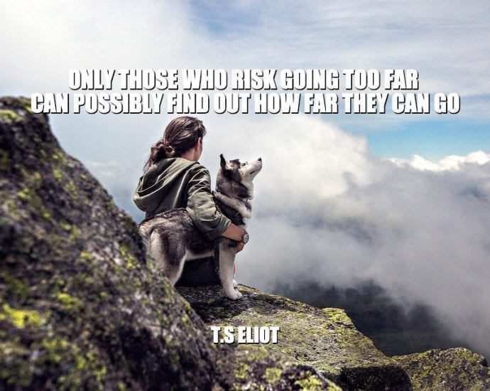 Daily Quotes: Only Those Who Risk Going Too Far Can Possibly Find Out How Far They Can Go petworldglobal.com