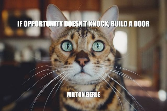 Daily Quotes: If Opportunity Doesn't Knock, Build A Door petworldglobal.com