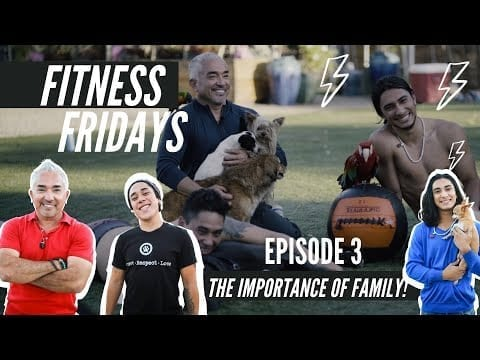 CESAR MILLAN WORKS OUT WITH HIS TWO SONS! FITNESS FRIDAYS! petworldglobal.com