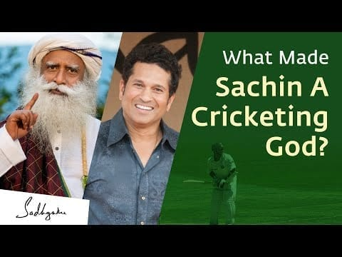 Sachin Became a Cricketing God Because of This Quality – Sadhguru petworldglobal.com