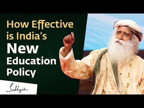 Sadhguru on India's New National Education Policy petworldglobal.com