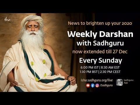 With Sadhguru in Challenging Times - 06 Sep, 6 pm IST petworldglobal.com