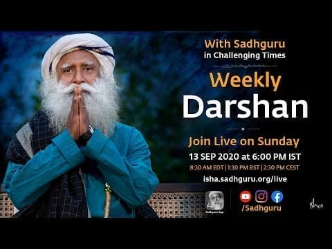With Sadhguru in Challenging Times - 13 Sep, 6 pm IST petworldglobal.com