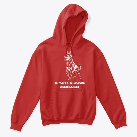 Kids Classic Pullover Hoodie Red Sport & Dogs Monaco