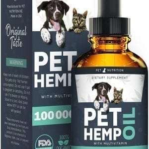 Pet Nutrition - Hemp Oil Dogs Cats - 100 000 MG - Helps Pets with Anxiety, Pain, Stress, Sleep, Arthritis, Seizures Relief - Hip Joint Health