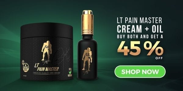 Lawrence Taylor Pain Master for Athletes CBD Oil and CBD Creams